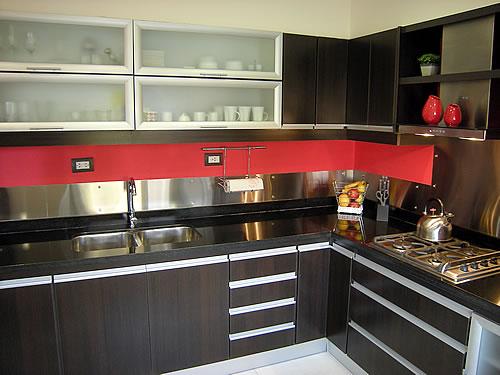 Muebles Para Baño Neuquen:Mueble de cocina realizado a medida en melamina roble moro Herraje