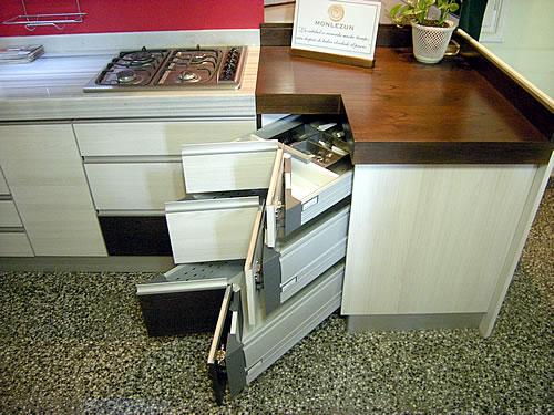 Cajones rinconeros corner tandembox leds de movimiento for Mesa con cajones para cocina