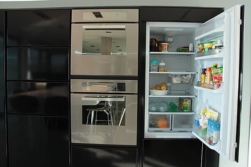 Cocina cajones apertura motor servo drive mesada en for Amoblamientos de cocina a medida precios