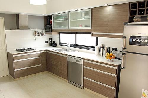 Color teka en muebles latest el color teka con el detalle for Medidas banco cocina