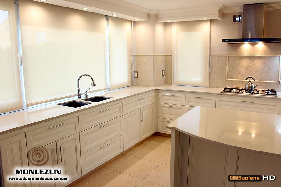 Mueble de cocina laqueado blanco satinado santa rosa la for Amoblamientos de cocina a medida precios